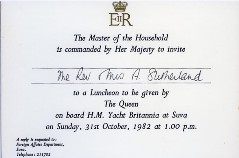 The queen in new zealand invitation to luncheon stopboris Choice Image