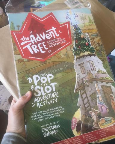 "Just received my Advent Trees from Baptist Children's Ministry (NZ) in the mail! Excited to ""trial"" it next week at PCANZ"