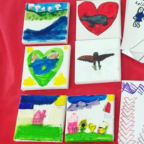 Some of today's artwork created by a fabulous group of children @ a Kids Friendly art event, hosted by St. Paul's Trinity Pa