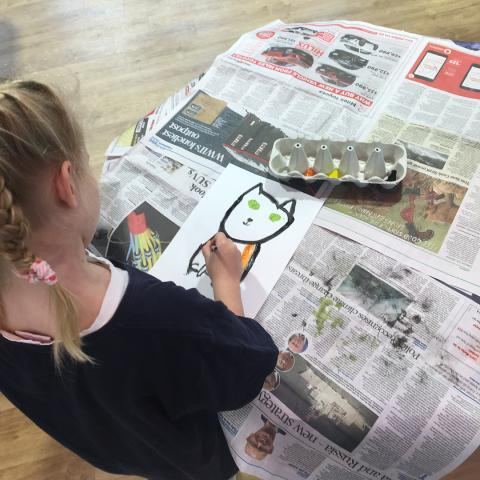 Another fun and creative 'Love Reaches Out: Caring for Our World' Kids Friendly art day hosted by The Village, Bryndwr on Th
