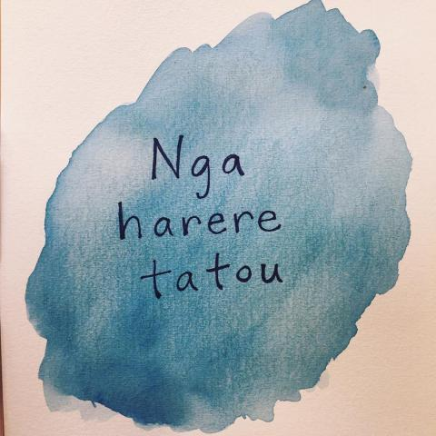 "A Māori phrase used in our household quite frequently is ""Nga harere tatou,"" which in English means ""Let's go"" (or literally, ""w"