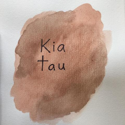 "Continuing to celebrate Māori language week with this phrase. ""Kia tau,"" in English, translates as ""settle down, chill out""."